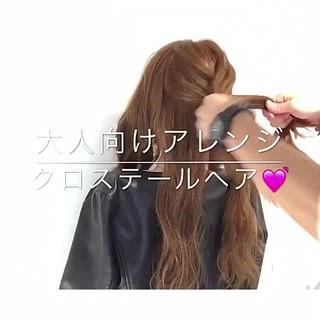 オフィス フェミニン デート ヘアアレンジ ヘアスタイルや髪型の写真・画像 ヘアスタイルや髪型の写真・画像