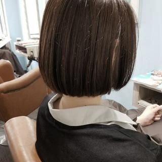 暗髪 ナチュラル デート 切りっぱなし ヘアスタイルや髪型の写真・画像