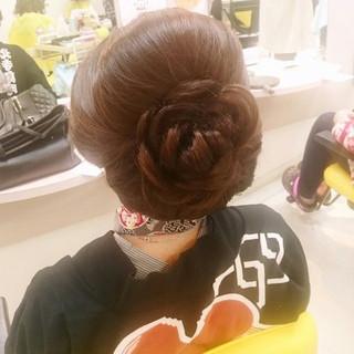 お祭り セミロング 着物 ヘアアレンジ ヘアスタイルや髪型の写真・画像 ヘアスタイルや髪型の写真・画像