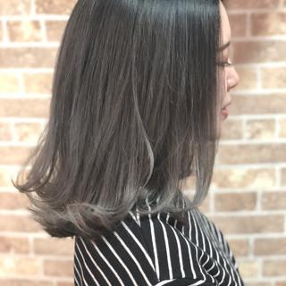 透明感 グラデーションカラー 外国人風カラー ロブ ヘアスタイルや髪型の写真・画像