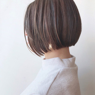 大人ハイライト 美シルエット 大人かわいい 抜け感 ヘアスタイルや髪型の写真・画像