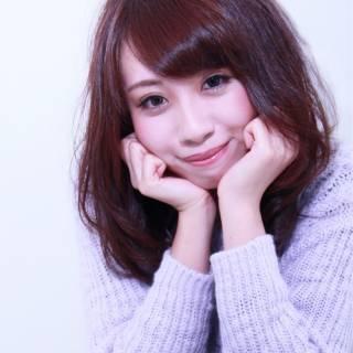 モテ髪 ひし形 セミロング 秋 ヘアスタイルや髪型の写真・画像