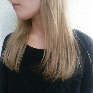 ストレート 外国人風 大人かわいい セミロング ヘアスタイルや髪型の写真・画像
