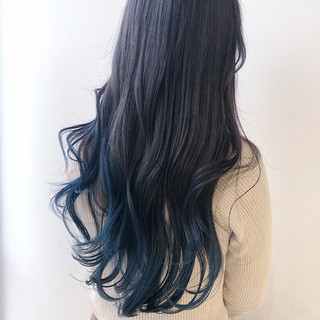 ブルージュ ブルー ブルーラベンダー ブルーアッシュ ヘアスタイルや髪型の写真・画像