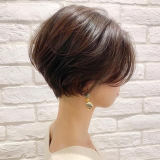 ショート 簡単ヘアアレンジ デート パーマ ヘアスタイルや髪型の写真・画像