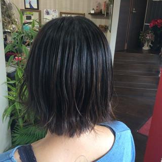 ヘアカラー ミニボブ ショートボブ ナチュラル ヘアスタイルや髪型の写真・画像