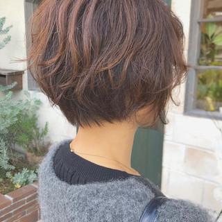 ボブ ニュアンスヘア 毛先パーマ ナチュラル ヘアスタイルや髪型の写真・画像
