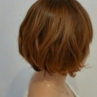 ボブ フェミニン ニュアンス ゆるふわ ヘアスタイルや髪型の写真・画像