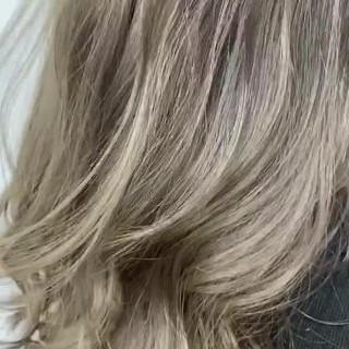 オルチャン ガーリー ハイトーン ハイトーンカラー ヘアスタイルや髪型の写真・画像