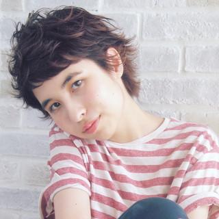 ハイライト ショート 外国人風 ベリーショート ヘアスタイルや髪型の写真・画像 ヘアスタイルや髪型の写真・画像