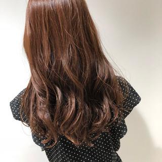 ヘアカラー レディース オレンジ カッパー ヘアスタイルや髪型の写真・画像