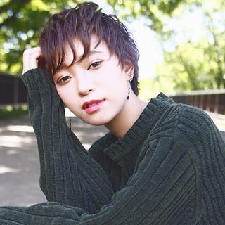 暗髪 ストリート ショート 冬 ヘアスタイルや髪型の写真・画像