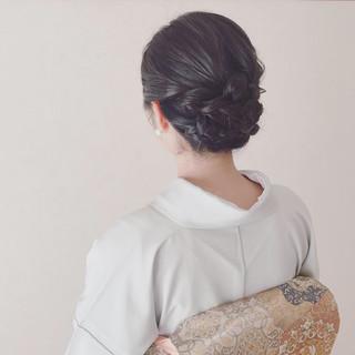 ミディアム 結婚式 着物 上品 ヘアスタイルや髪型の写真・画像 ヘアスタイルや髪型の写真・画像