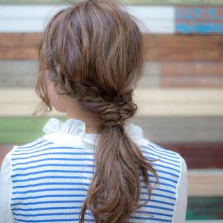 簡単ヘアアレンジ ショート ロング ローポニーテール ヘアスタイルや髪型の写真・画像 ヘアスタイルや髪型の写真・画像