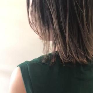 外国人風 ロブ ナチュラル ハイライト ヘアスタイルや髪型の写真・画像