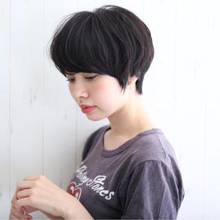 ショート ショートボブ 小顔 ストリート ヘアスタイルや髪型の写真・画像