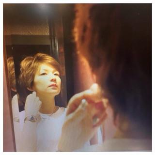 ショート ハイライト 外国人風 パーマ ヘアスタイルや髪型の写真・画像 ヘアスタイルや髪型の写真・画像