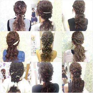 ポニーテール ローポニーテール ヘアアレンジ ショート ヘアスタイルや髪型の写真・画像