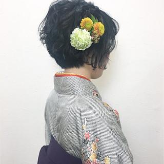 ヘアアレンジ ガーリー 袴 謝恩会 ヘアスタイルや髪型の写真・画像