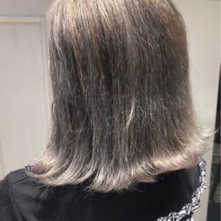 モード デート ミディアム イルミナカラー ヘアスタイルや髪型の写真・画像