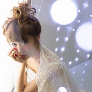 愛され 簡単ヘアアレンジ フェミニン ボブ ヘアスタイルや髪型の写真・画像
