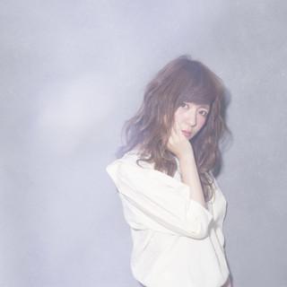ピュア ガーリー モテ髪 ゆるふわ ヘアスタイルや髪型の写真・画像