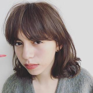 ストリート アンニュイ ゆるふわ ミディアム ヘアスタイルや髪型の写真・画像