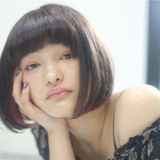 ショート モード ハイライト ショートボブ ヘアスタイルや髪型の写真・画像