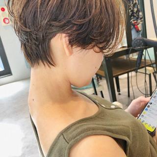 マッシュヘア ショートヘア ショート ハンサムショート ヘアスタイルや髪型の写真・画像