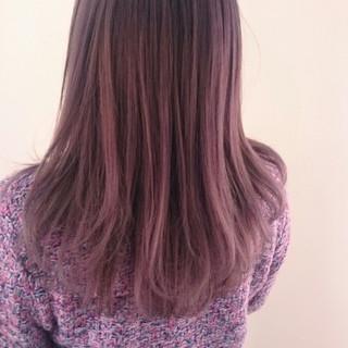 ラベンダーアッシュ フェミニン ダブルカラー ハイライト ヘアスタイルや髪型の写真・画像