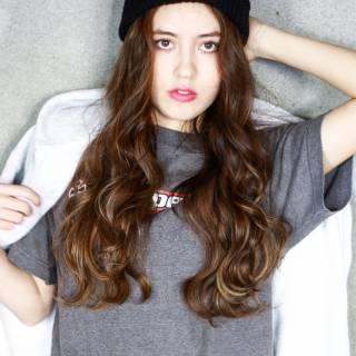 ストレート ストリート ガーリー セミロング ヘアスタイルや髪型の写真・画像 ヘアスタイルや髪型の写真・画像