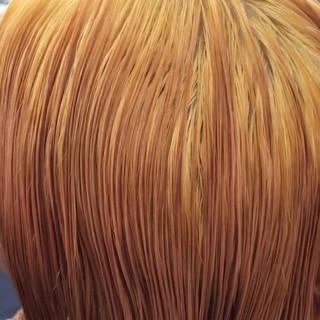 ブリーチ ブリーチオンカラー 外国人風カラー ヘアアレンジ ヘアスタイルや髪型の写真・画像