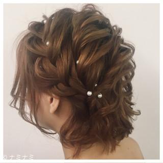ロープ編み 編み込み ゆるふわ ガーリー ヘアスタイルや髪型の写真・画像