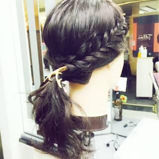 ヘアアレンジ 編み込み 愛され モテ髪 ヘアスタイルや髪型の写真・画像