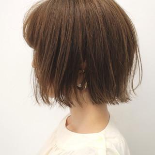モテ髪 ナチュラル 切りっぱなしボブ 外ハネボブ ヘアスタイルや髪型の写真・画像