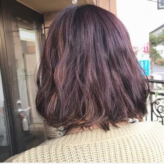 モーブ 透明感 ピンク フェミニン ヘアスタイルや髪型の写真・画像