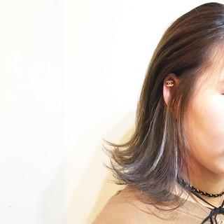 グラデーションカラー 暗髪 色気 ストリート ヘアスタイルや髪型の写真・画像