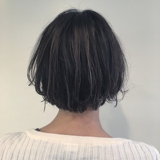 透明感 ストリート ハイライト ショート ヘアスタイルや髪型の写真・画像