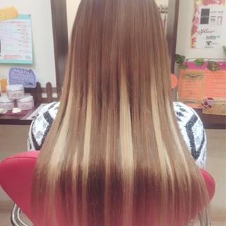 ストレート エクステ 外国人風 ハイトーン ヘアスタイルや髪型の写真・画像