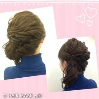 ヘアアレンジ 結婚式 ミディアム ナチュラル ヘアスタイルや髪型の写真・画像 ヘアスタイルや髪型の写真・画像