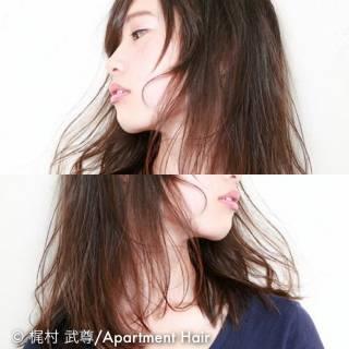 ナチュラル ノームコア 大人かわいい セミロング ヘアスタイルや髪型の写真・画像