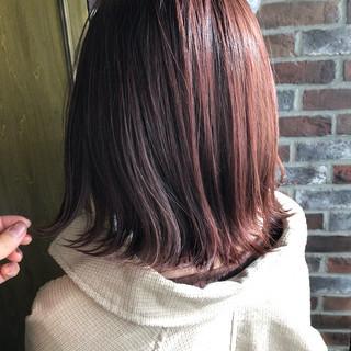 アディクシーカラー ボブ 外国人風カラー 切りっぱなしボブ ヘアスタイルや髪型の写真・画像