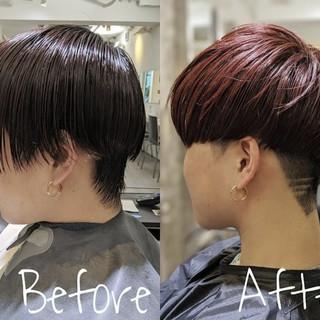マッシュショート メンズヘア 刈り上げ メンズスタイル ヘアスタイルや髪型の写真・画像