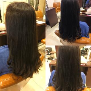 セミロング ワンカール ストレート パーマ ヘアスタイルや髪型の写真・画像 ヘアスタイルや髪型の写真・画像