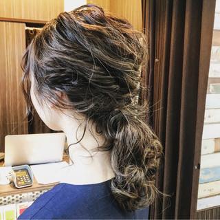 大人かわいい フェミニン ヘアアレンジ 夏 ヘアスタイルや髪型の写真・画像