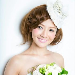 結婚式 ロング 大人かわいい ヘアアレンジ ヘアスタイルや髪型の写真・画像