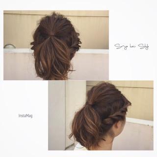 ショート 簡単ヘアアレンジ ヘアアレンジ アッシュ ヘアスタイルや髪型の写真・画像