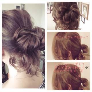 大人かわいい ナチュラル 結婚式 簡単ヘアアレンジ ヘアスタイルや髪型の写真・画像