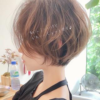 パーマ ショートボブ ヘアアレンジ ショート ヘアスタイルや髪型の写真・画像
