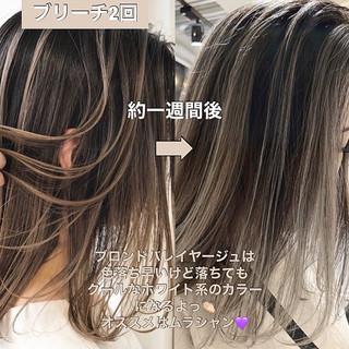 ラベンダーピンク アッシュグレージュ バレイヤージュ 結婚式 ヘアスタイルや髪型の写真・画像 | ALIVE【阿部 圭悟】 / ALIVE